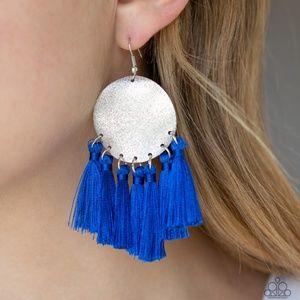 Tassel Tribute - Blue Earrings